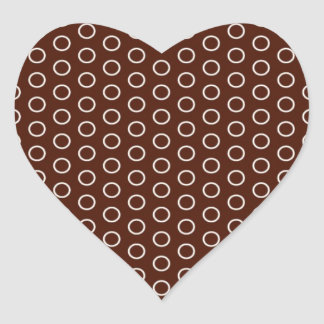small scores retro samples scored dotted heart sticker