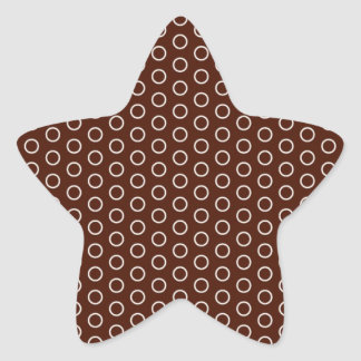 small scores retro samples scored dotted star sticker