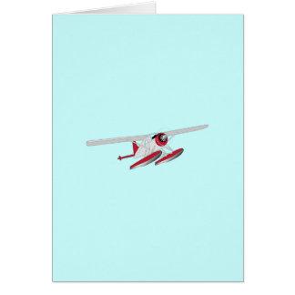 Small Sea Plane Card