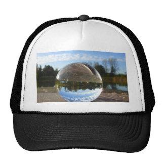 Small sea seen through a crystal ball cap