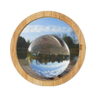 Small sea seen through a crystal ball