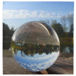 Small sea seen through a crystal ball napkins
