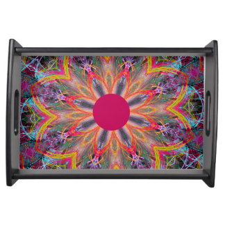 Small Serving Tray in Mandala Pink Design