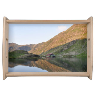 Small Serving Tray-Mountains and lake landscape Serving Tray