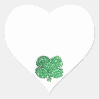 Small Shamrock Heart Sticker
