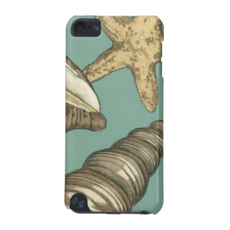 Small Shell Trio on Teal iPod Touch (5th Generation) Cases