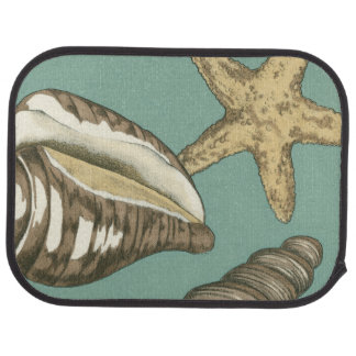 Small Shell Trio on Teal Floor Mat