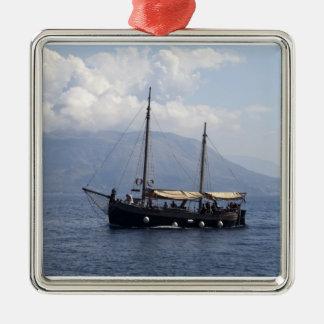 Small Ship Christmas Ornament