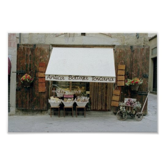 Small shop in Arezzo Poster