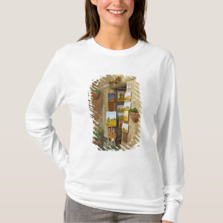 Small shope with artwork for sale on sidewalk T-Shirt