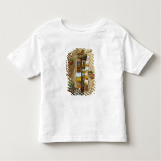 Small shope with artwork for sale on sidewalk toddler T-Shirt