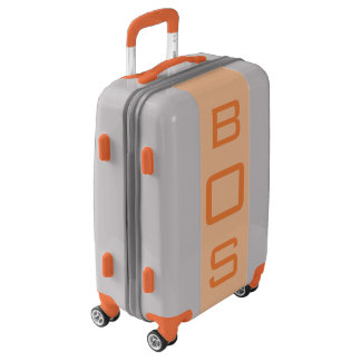 SMALL Silver + Light Orange Monogram Carry On Bag Luggage