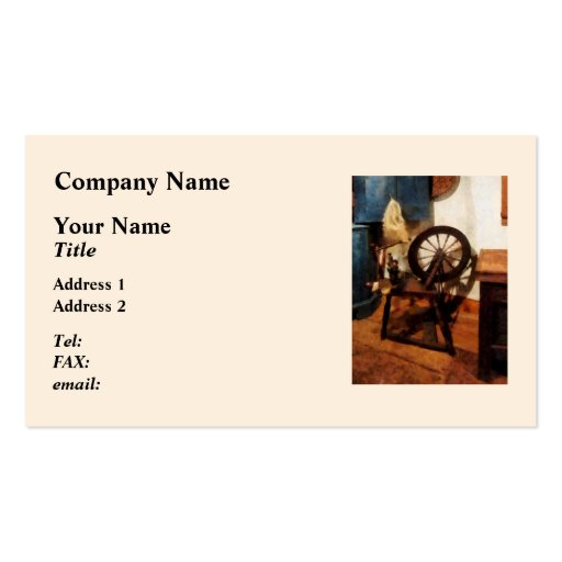 Small Spinning Wheel Business Card Template