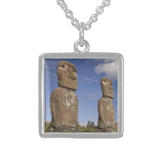 Small square custom sterling silver necklace