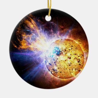 Small Star Large Flare Christmas Ornament