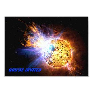 Small Star Large Flare 13 Cm X 18 Cm Invitation Card
