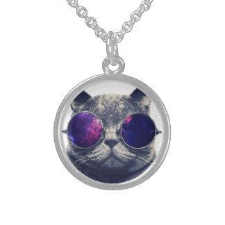 Small Sterling Silver Round Necklace