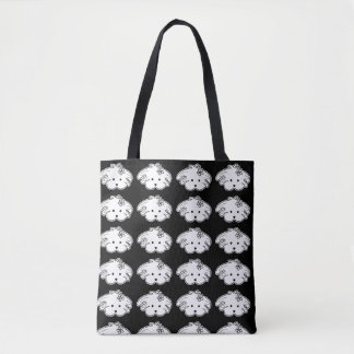 Small stock market black small dog, the world of tote bag