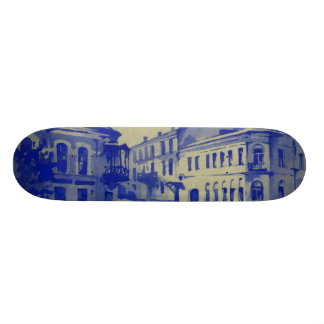 Small streets in the old town skate deck