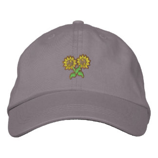 Small Sunflowers Embroidered Hat