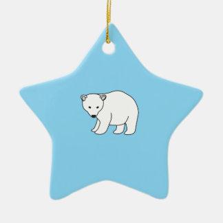 small, sweet polar bear christmas ornament