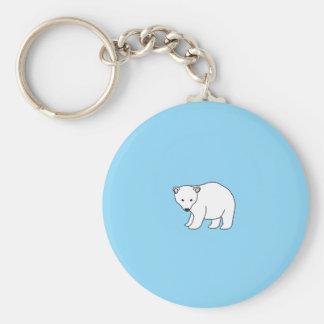small, sweet polar bear key chain