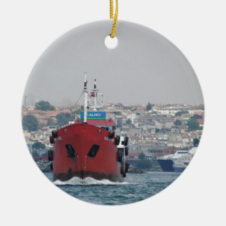 Small Tanker Yagmur Deniz Christmas Ornament