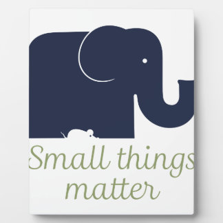 Small things matter.pdf plaque