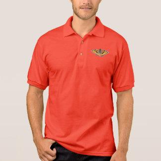 Small Tortoiseshell Butterfly Men's Gildan Jersey Polo T-shirts