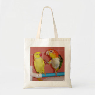 "Small Tote Bag:  Daffy and Zoey, ""Don't touch me"" Budget Tote Bag"