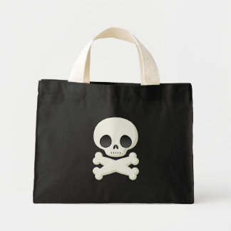 small tote bag with a cute skull pic