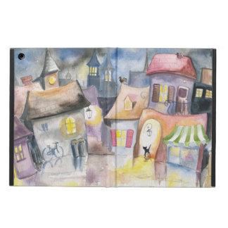 Small town at night iPad air cover