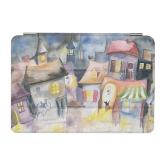 Small town at night iPad mini cover