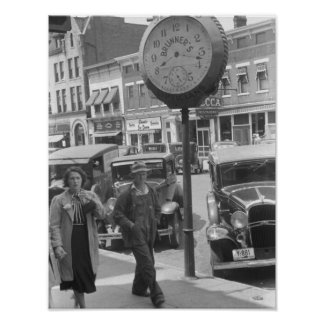 Small Town, Big Clock, 1930s Posters