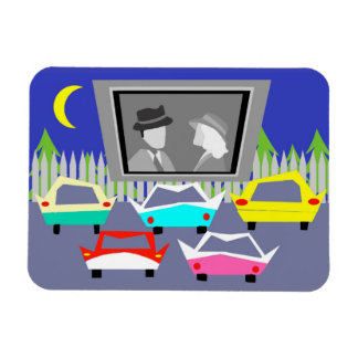 Small Town Drive-In Movie Flexi Magnet
