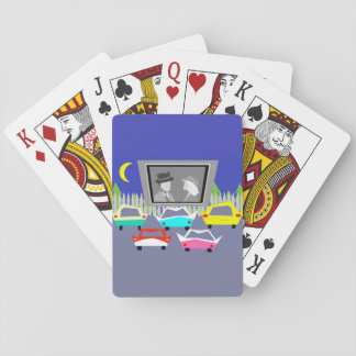 Small Town Drive-In Movie Playing Cards