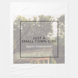 Small Town Girl Fleece Blanket