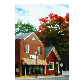 Small Town in Autumn Princess Anne MD 13 Cm X 18 Cm Invitation Card