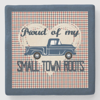 Small Town Roots Coaster (Navy)