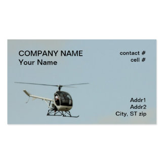 small training helicopter pack of standard business cards