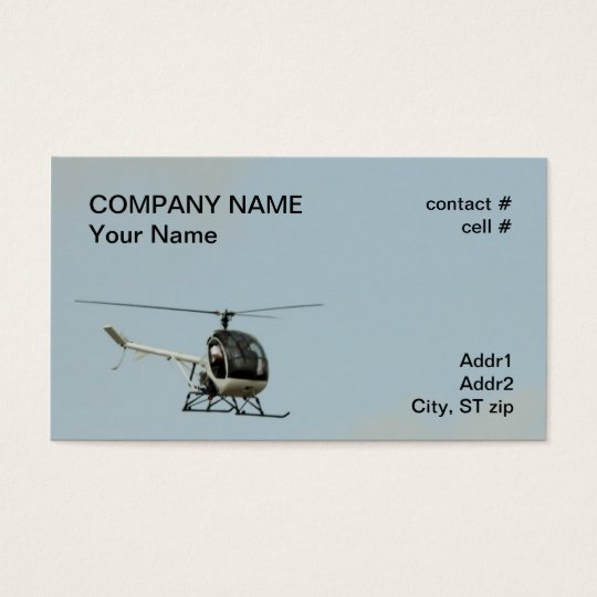 small training helicopter business card
