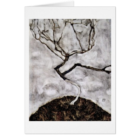 Small Tree In Late Autumn By Egon Schiele Card