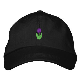Small Tulip Embroidered Hats