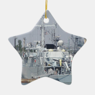 Small Warship Ceramic Star Decoration