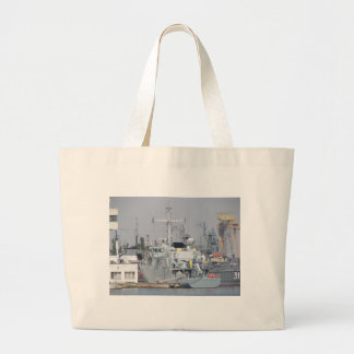 Small Warship Large Tote Bag