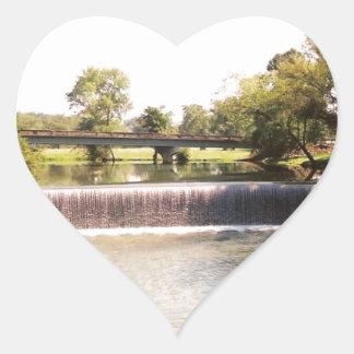 Small Waterfall Heart Sticker