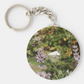 Small White Or Cabbage White Butterfly Keychain