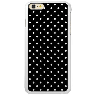 Small White Polka dots black background iPhone 6 Plus Case