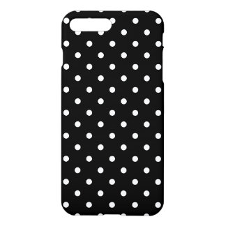 Small White Polka dots black background iPhone 7 Plus Case
