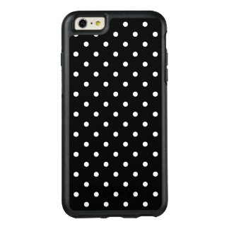 Small White Polka dots black background OtterBox iPhone 6/6s Plus Case